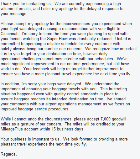 Response of united airlines to my complaint world wanderlusting i expocarfo