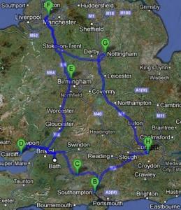 Britain travel map