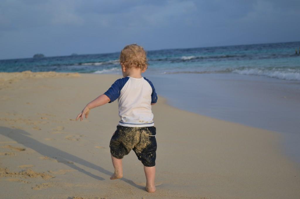 Traveling baby beach