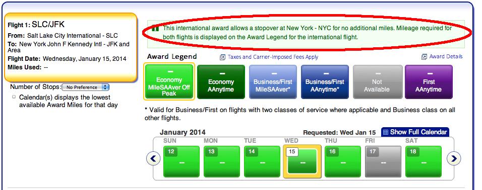 Multi destination flight