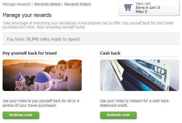 Redeem Barclaycard Points