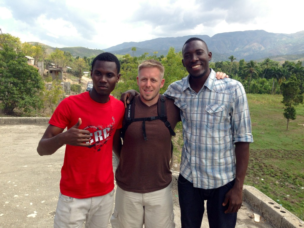 Two of my best friends from Haiti, Stanley and Pouchon
