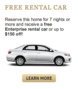 Free rental car