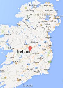 Ireland with stars