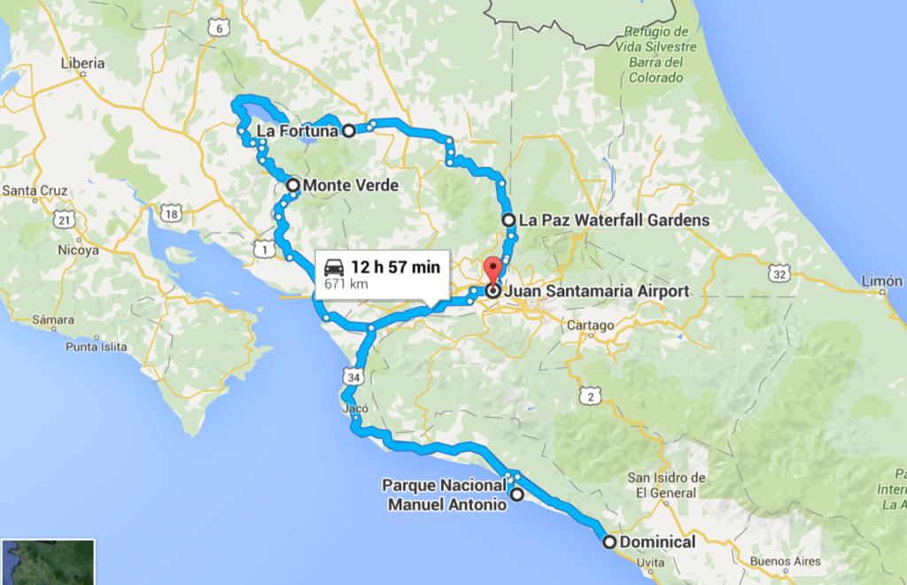 Costa Rica plan trip