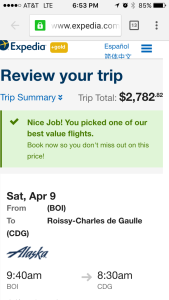 This is how someone else would have booked the same flight.